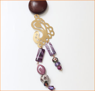 Shades of purple with seeds and Copper motifs